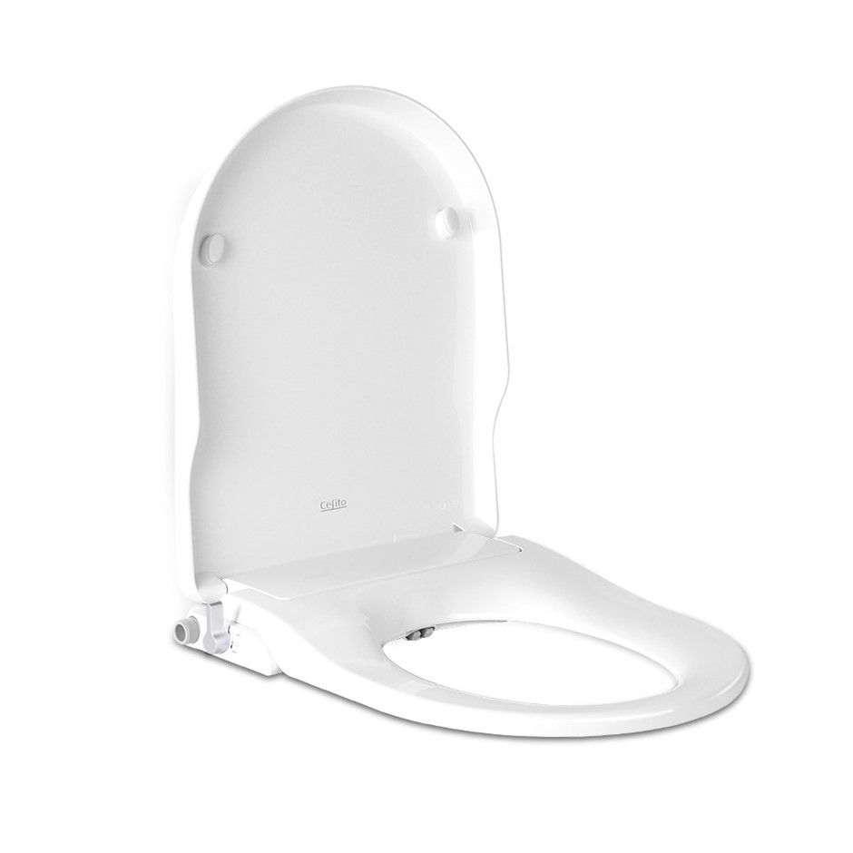 Non Electric Bidet Toilet Seat W/ Cover Bathroom Washlet Spray Water Wash