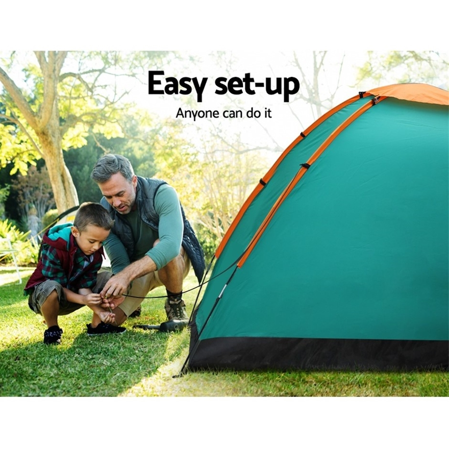 Buy Bestway 3 Person Camping Tent Dome Canvas Swag Hiking ...