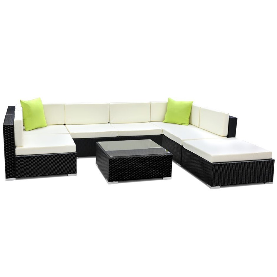 Gardeon 8 Piece Outdoor Furniture Set Wicker Sofa Lounge