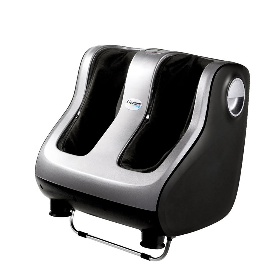 Livemor Foot Massager Calf Leg Massagers Shiatsu Kneading Rolling Silver