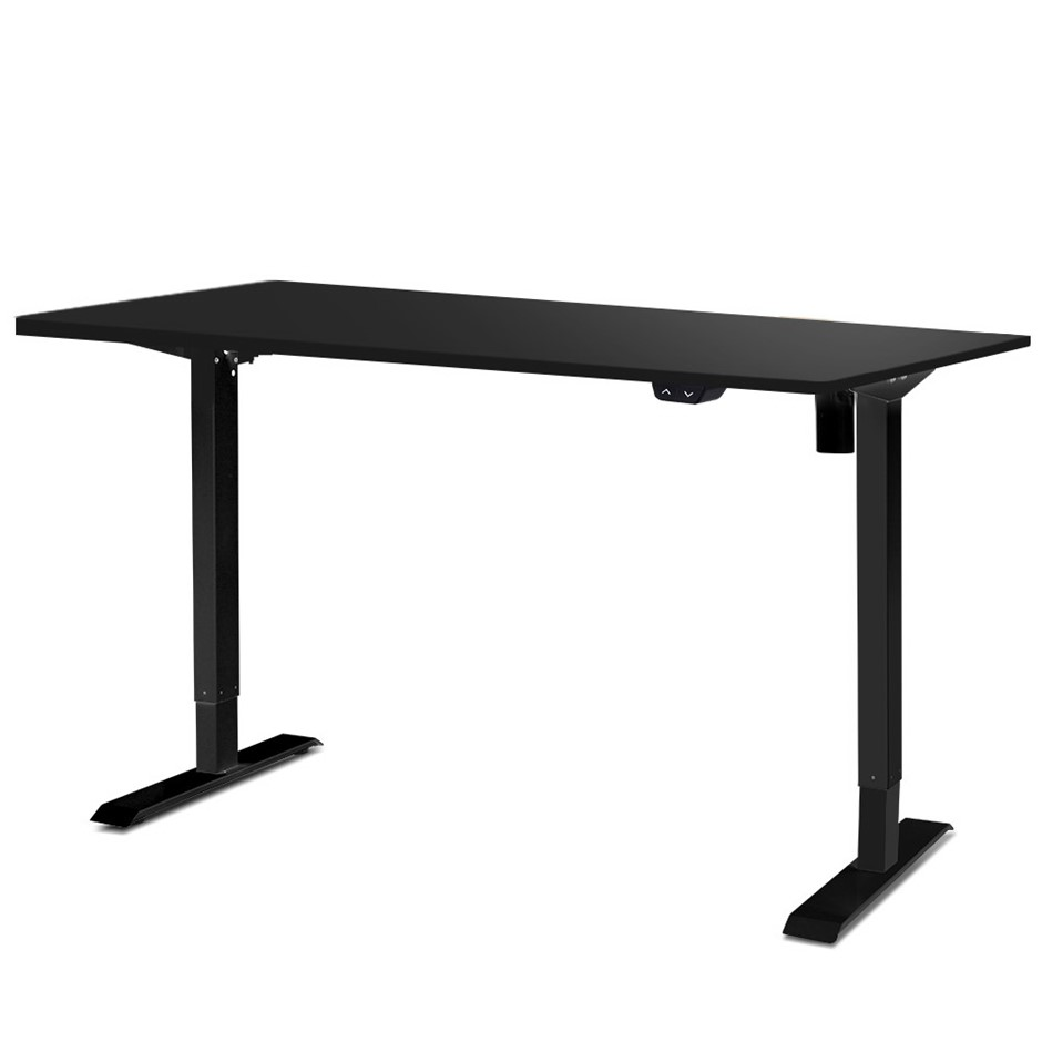 Artiss Motorised Electric Height Adjustable Standing Desk Computer Black