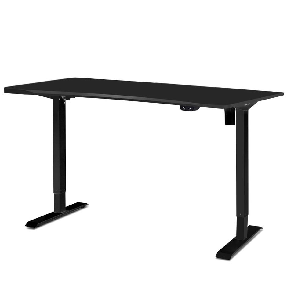 Artiss Roskos I Height Adjustable Standing Desk Sit Stand Table Black