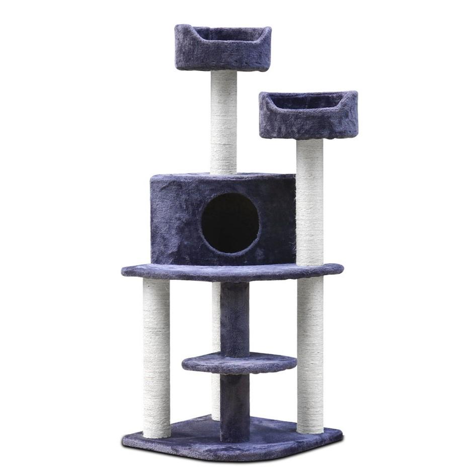 i.Pet 126cm Multi Level Cat Scratching Tree - Grey