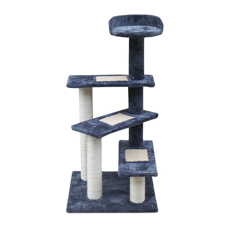 i.Pet 100cm Multi Level Cat Scratching Tree - Grey