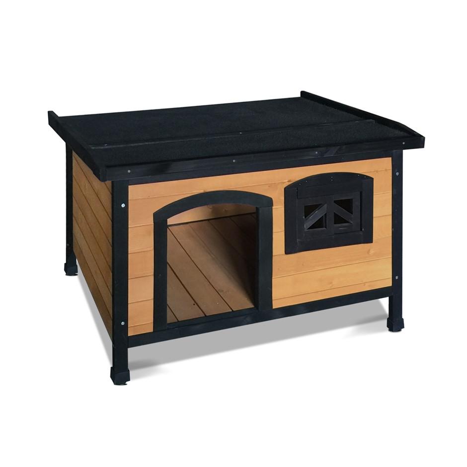 i.Pet Medium Wooden Pet Kennel