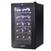 Devanti Wine Cooler 18 Bottles Glass Door Beverage Thermoelectric Fridge