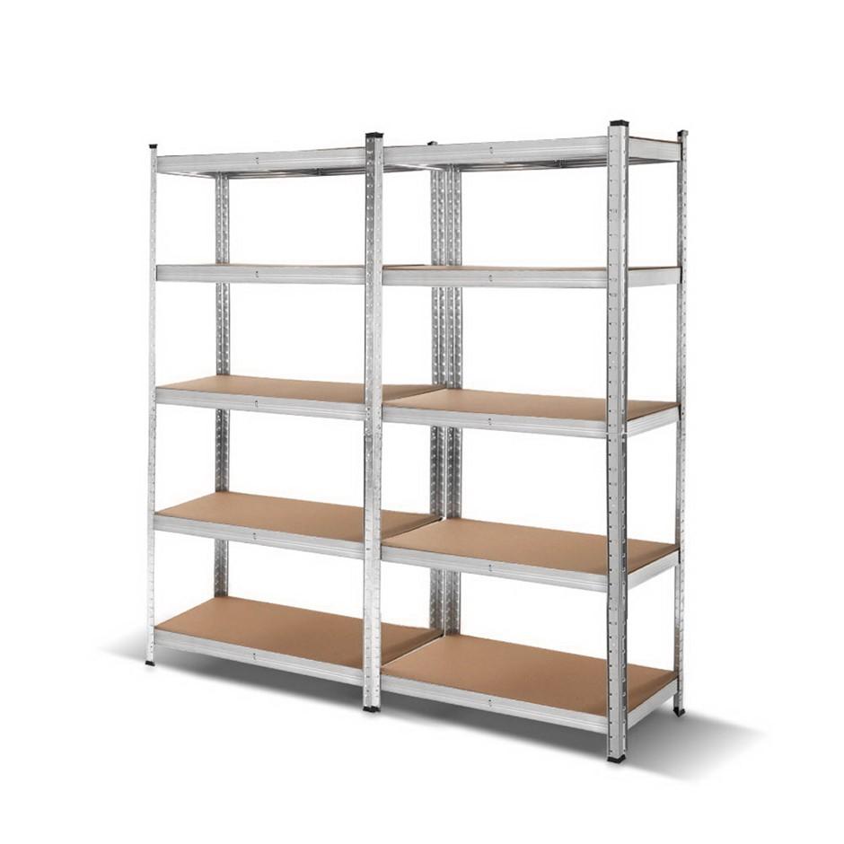 2x 0.9M Warehouse Racking Shelving Rack Garage Steel Metal Storage Shelves