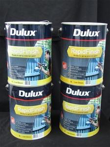 Qty 4 x Dulux 10 Litres Rapid Finish Pai
