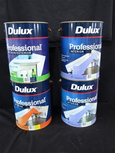 Qty 4 x Dulux 10 Litres Professional Pai