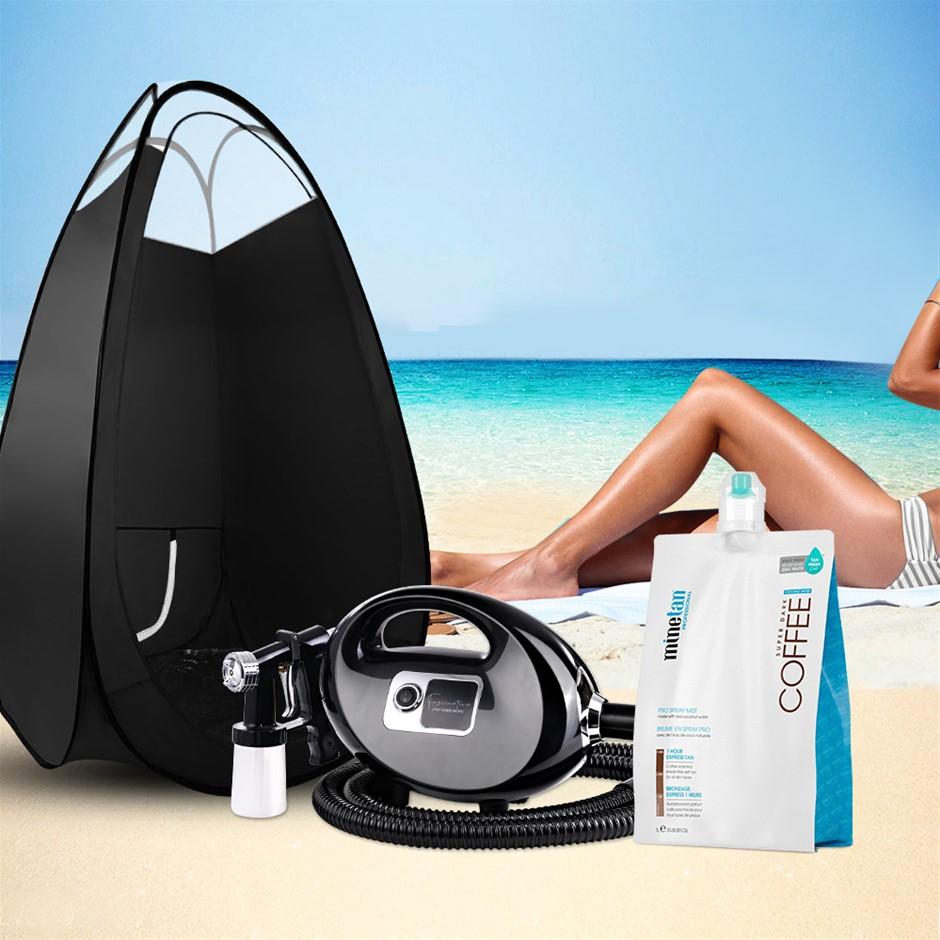 Spray Tan Machine Solution Tent Kit Spray Gun HVLP Sunless COFFEE