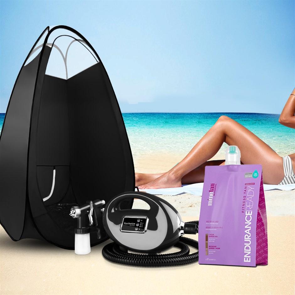 Alba. Spray Tan Machine Tanning Kit Tent Booth Spray Gun System 1L Solution