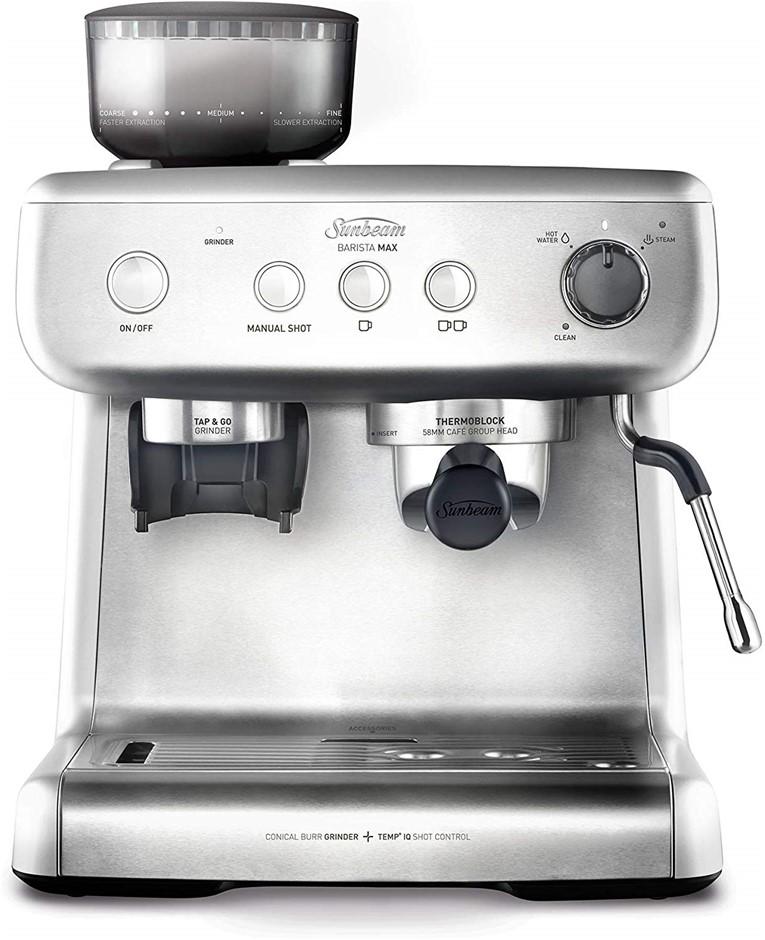 SUNBEAM BARISTA MAX Espresso Machine c/w Integrated Grinder. N.B. Not in Or