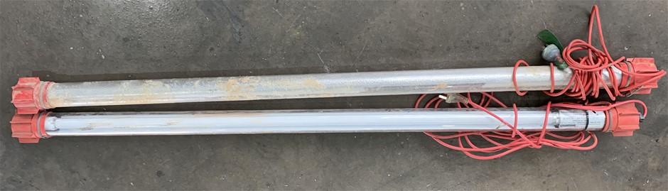 2 x Burn Brite Fluro Work Lights