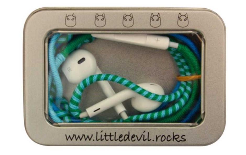 (4 Pack) LittleDevil.Rocks Earphones with Line in Microphone (Iceberg)