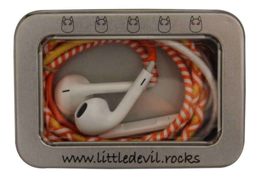 (4 Pack) LittleDevil.Rocks Earphones with Line in Microphone (Sunburst)