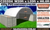 2020 Unused Heavy duty 20ft Container Shelter with end wall,