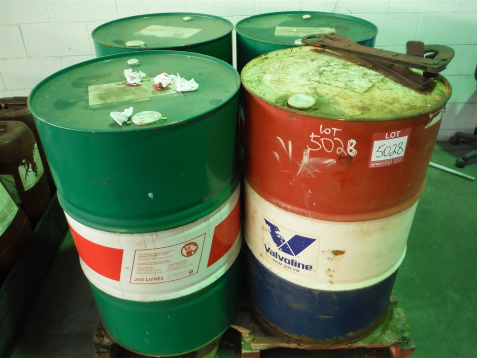 Quantity of 4x 205 Litre Drums Oil