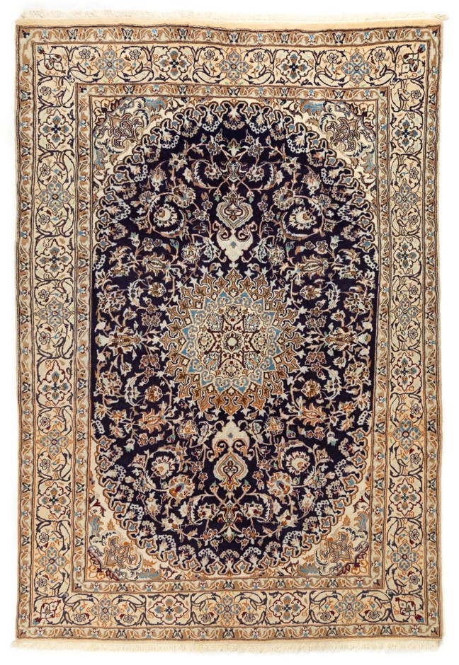 Persian Nain Hand Knotted Wool and Silk Pile SIZE (cm): 200 X 287