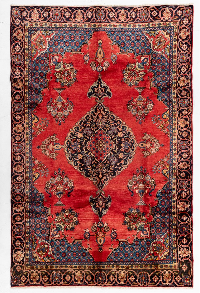 Persian Veese Hand Knotted Wool and Silk Pile SIZE (cm): 200 X 300