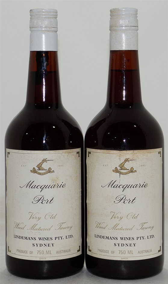 Lindemans Macquarie Very Old Wood Matured Port NV (2x 750mL), Hunter. Cork.