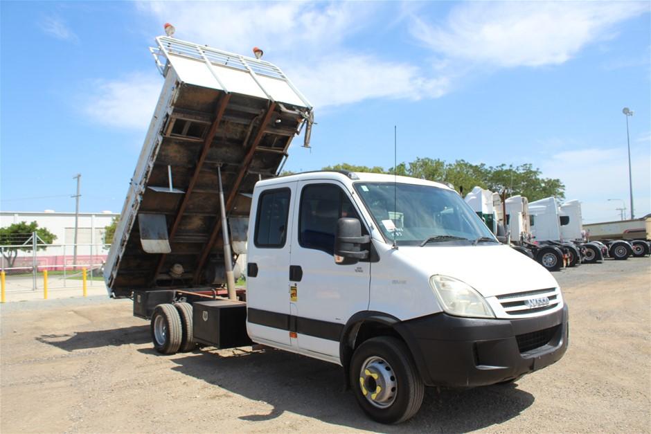 2007 Iveco Daily Auto T/Diesel Crane Dual Cab Tipper Truck