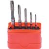 SWISS+TECH 5pc Spiral Point Tap Set, Pitch Sizes: M3 x 0.5mm, M4 x 0.7mm, M