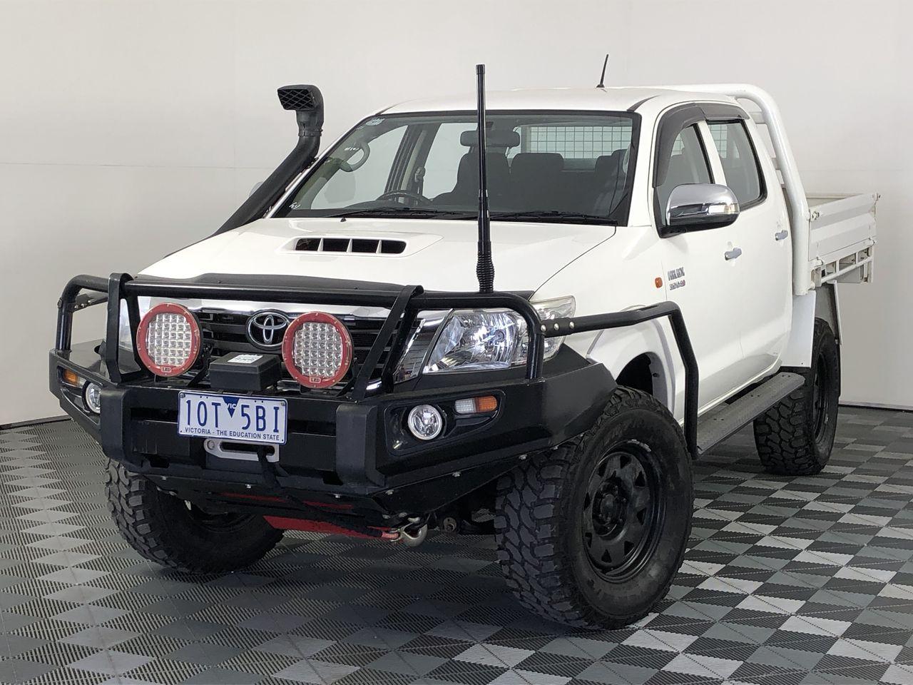 2014 Toyota Hilux SR (4x4) KUN26R Turbo Diesel Manual Crew Cab Chassis