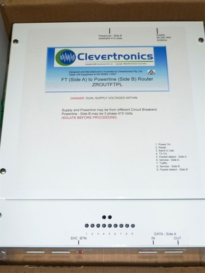 2 x Clevertronics Emergency exit light router - Unused Condition