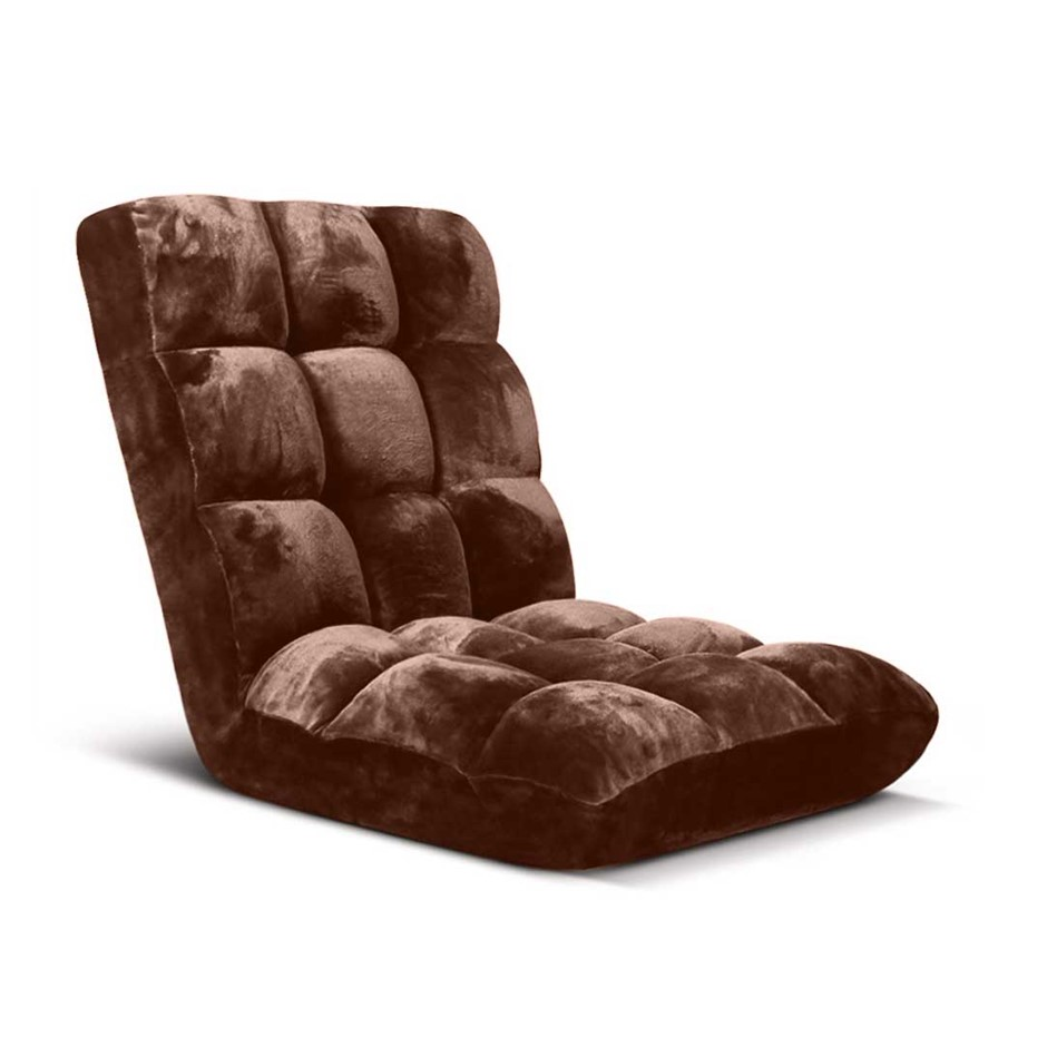 SOGA Floor Recliner Folding Lounge Sofa Futon Couch Chair Cushion Coffee