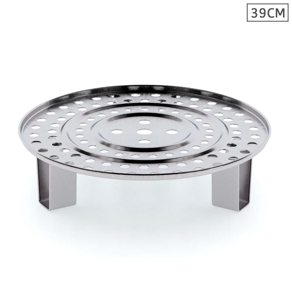 SOGA 39cm Stainless Steel Steamer Insert Stock Pot Steaming Rack Tray