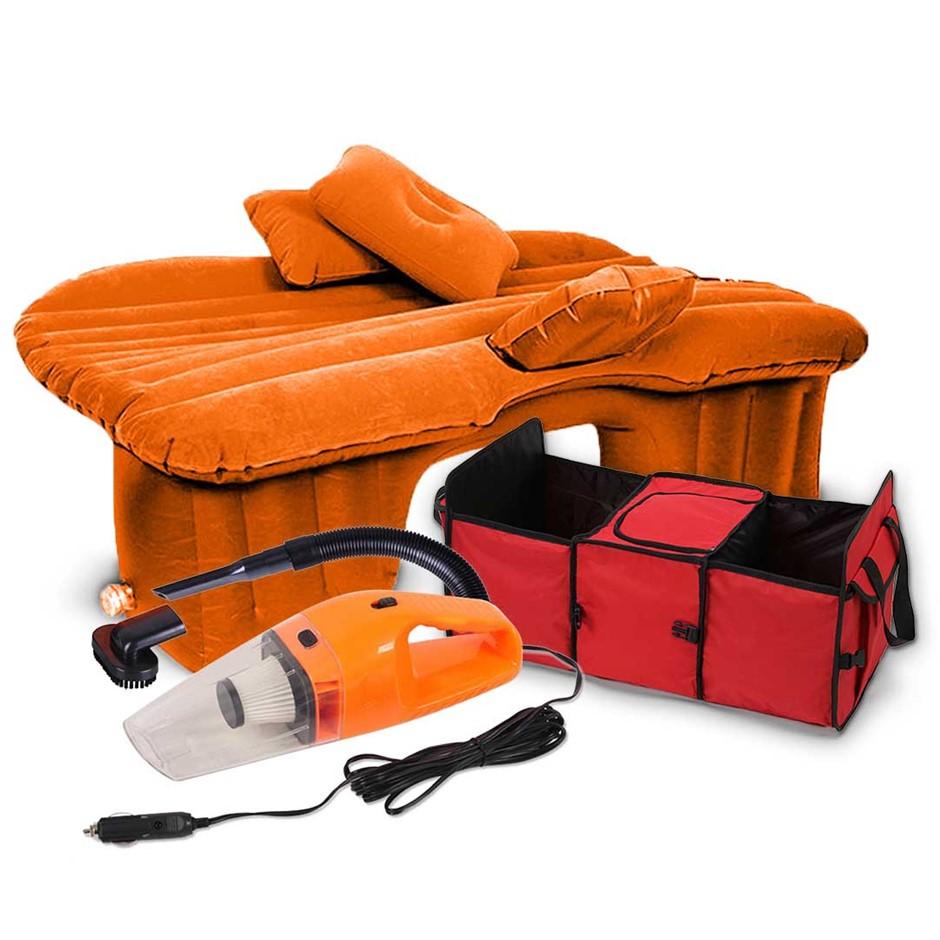 SOGA Portable Travel Camping Car Set Inflatable Air Bed Mattress Storage