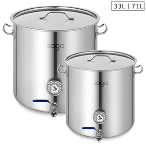 SOGA Stainless Steel Brewery Pot 33L 71L