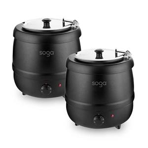 SOGA 2X 10L Soup Kettle Commercial Soup