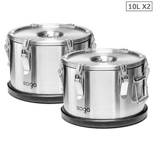 SOGA 2x 304 30*15cm Stainless Steel Insu