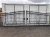 Set of 2 Unused Wrought Iron Style Gates