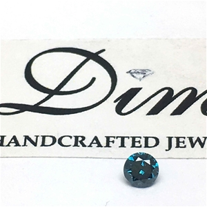 One Stone Blue Diamond 0.20ct in Total