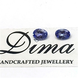 Two Stones Tanzanite, 1.02ct in Total