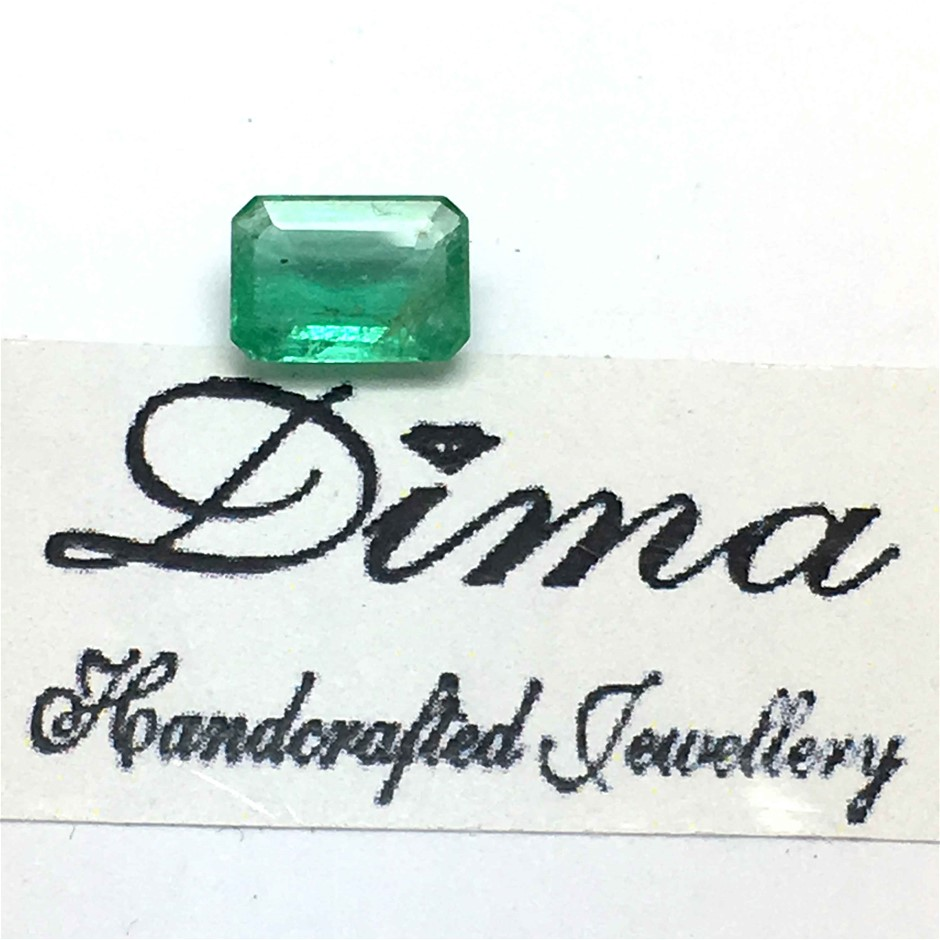 One Stone Emerald, 0.63ct in Total