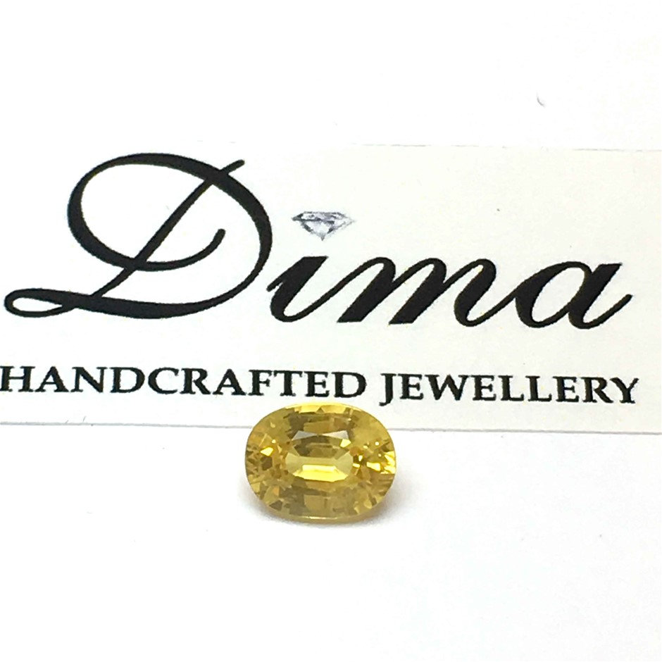One Stone Yellow Sapphire 1.11ct in Total