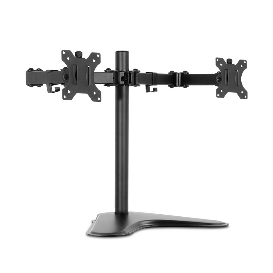 Dual HD LED Monitor Arm Stand TV Mount Holder 2 Arm Display Freestanding