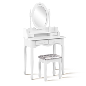 Artiss 4 Drawer Dressing Table with Mirr