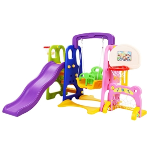 Keezi Kids Slide Swing with Basketball H
