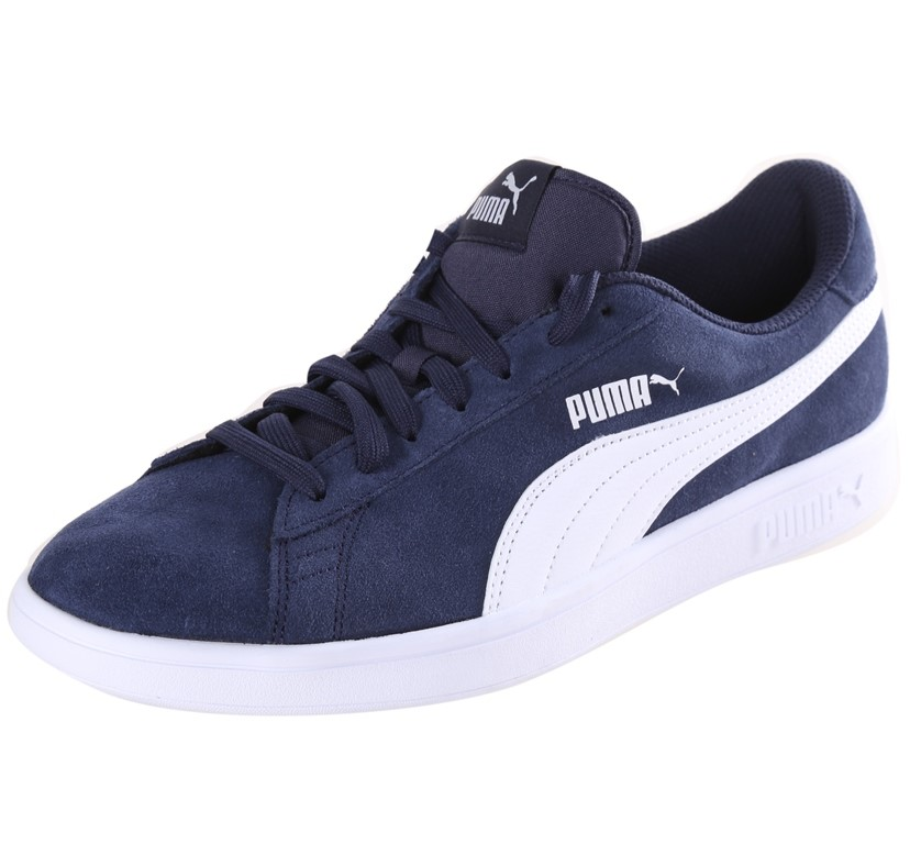 PUMA Smash V2 Men`s Sport Shoes, Size UK 9, Leather Upper, Soft Foam Inner,