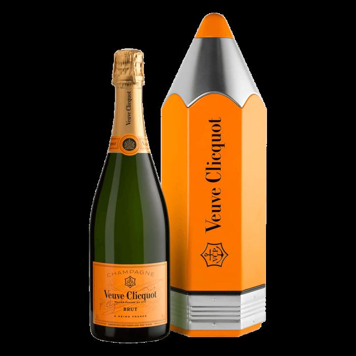 Veuve Clicquot Champagne Pencil Giftbox NV (3 x 750mL), France.
