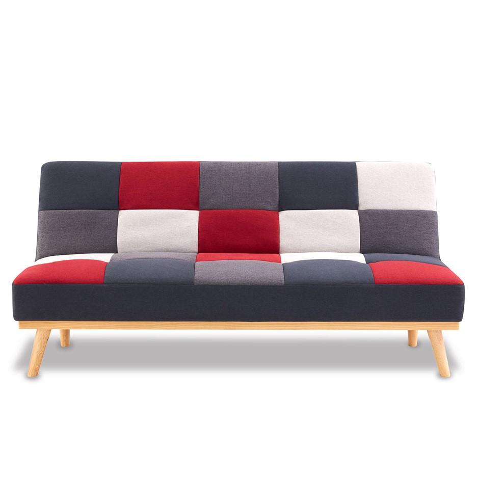 3 Seater Sofa Bed Lounge Faux Linen Fabric Multi-colour
