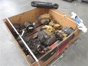 Box Containing 12 Hydraulic Pumps, Valve