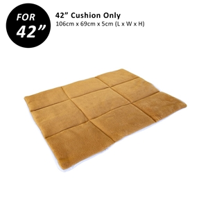 """42"""" Cushion for Wire Dog Cage - BEIGE"""