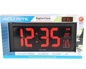 ACURITE Digital Clock with Indoor Temper