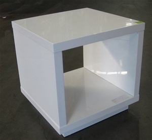 Ex Display Small White Lamp Table Auction 0048 3114232