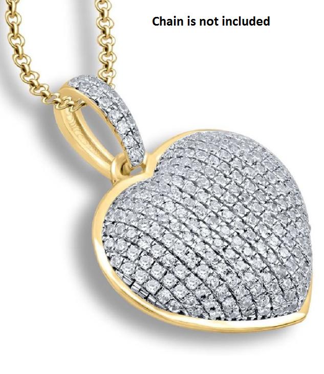 9ct Yellow Gold, 0.25ct Diamond Pendant